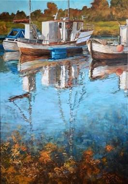Obraz do salonu artysty Magdalena Kępka pod tytułem Czerwiec na Lofotach