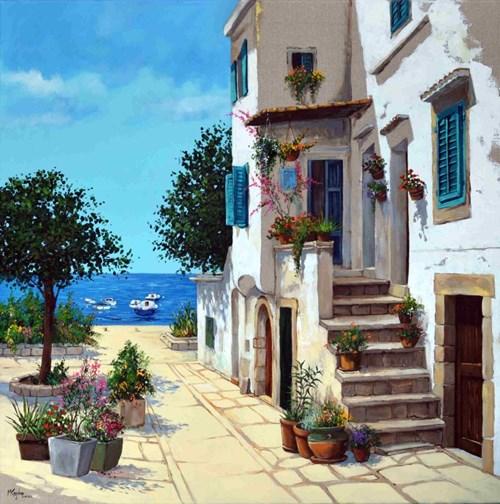 Obraz do salonu artysty Magdalena Kępka pod tytułem Wakacje nad Adriatykiem