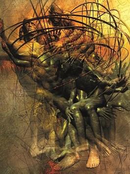 Obraz do salonu artysty Grzegorz Chojnacki pod tytułem Zapętleni 4