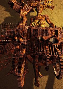 Grafika do salonu artysty Grzegorz Chojnacki pod tytułem Zardzewiałe
