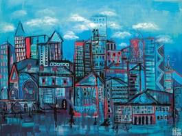 Obraz do salonu artysty Wojciech Brewka pod tytułem Muzyka miasta