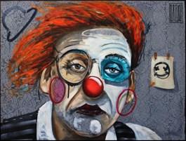 Obraz do salonu artysty Wojciech Brewka pod tytułem Happiness isn't easy