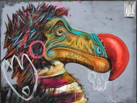 Obraz do salonu artysty Wojciech Brewka pod tytułem Punk's not Dead, but DODO is