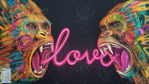 Obraz do salonu artysty Wojciech Brewka pod tytułem Love Not Hate