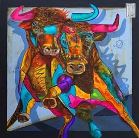 Obraz do salonu artysty Wojciech Brewka pod tytułem Twins