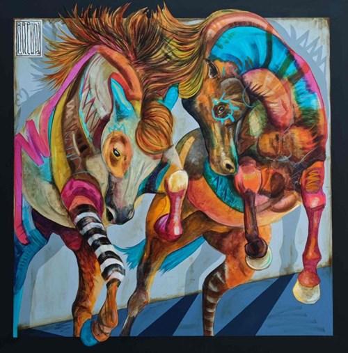 Obraz do salonu artysty Wojciech Brewka pod tytułem Twins 2