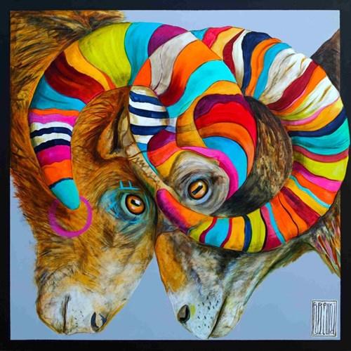 Obraz do salonu artysty Wojciech Brewka pod tytułem Z cyklu Twins