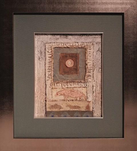 Obraz do salonu artysty Tomasz Lubaszka pod tytułem Menhir ze zwierzakami