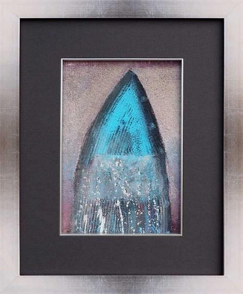 Obraz do salonu artysty Tomasz Lubaszka pod tytułem Niebieska abstrakcja