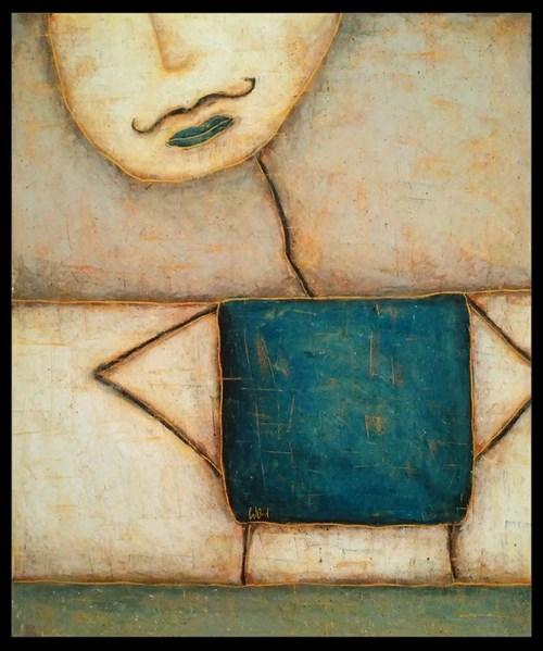 Obraz do salonu artysty Wojciech Odsterczyl pod tytułem On