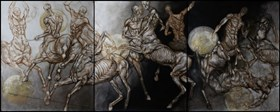 Walka centaurów 2 (tryptyk)