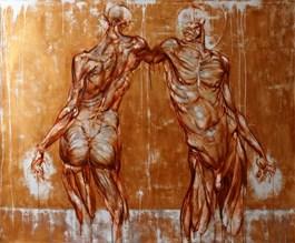 Obraz do salonu artysty Wojciech Pelc pod tytułem Kain i Abel