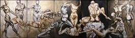 Obraz do salonu artysty Wojciech Pelc pod tytułem Ogród rozkoszy ziemskich 2