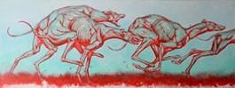 Obraz do salonu artysty Wojciech Pelc pod tytułem Rywalizacja