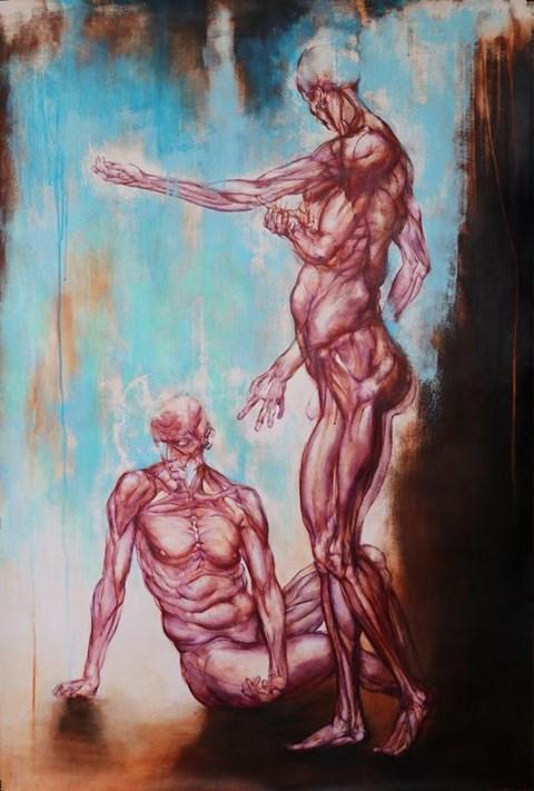 Obraz do salonu artysty Wojciech Pelc pod tytułem Wybór Kaina