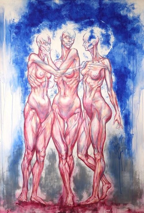Obraz do salonu artysty Wojciech Pelc pod tytułem Siostry 6