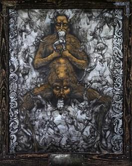 Obraz do salonu artysty Wojciech Pelc pod tytułem Lucyfer