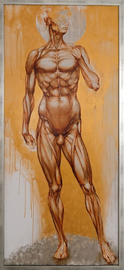 Living room painting by Wojciech Pelc titled David