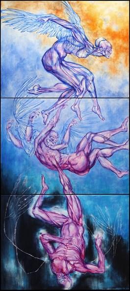 Obraz do salonu artysty Wojciech Pelc pod tytułem Ikar