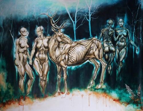 Obraz do salonu artysty Wojciech Pelc pod tytułem Nimfy 3
