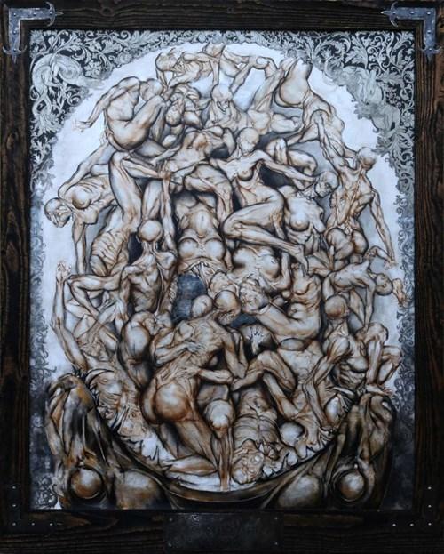 Obraz do salonu artysty Wojciech Pelc pod tytułem Lewiatan