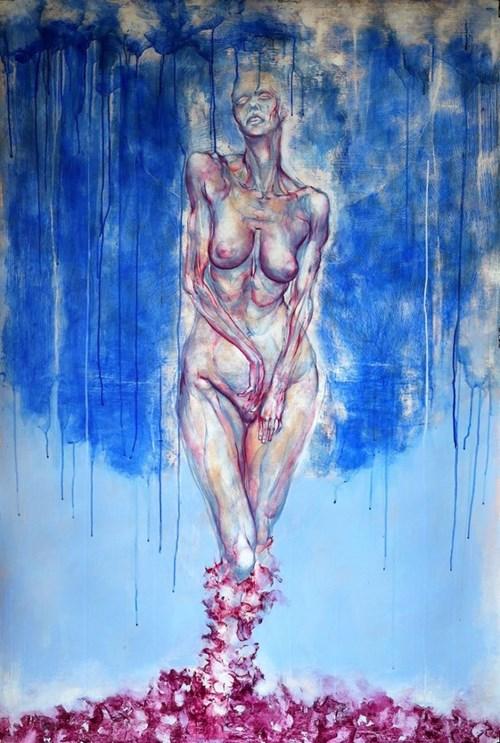 Obraz do salonu artysty Wojciech Pelc pod tytułem Narodziny Wenus