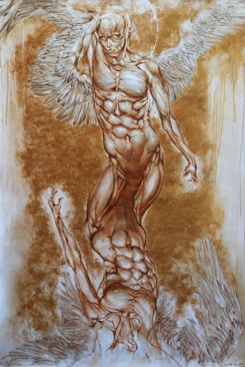 Obraz do salonu artysty Wojciech Pelc pod tytułem Natura Anioła