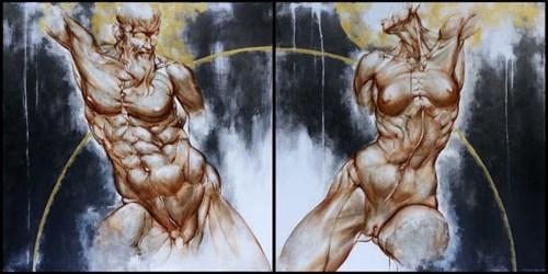 Obraz do salonu artysty Wojciech Pelc pod tytułem Zeus i Hera
