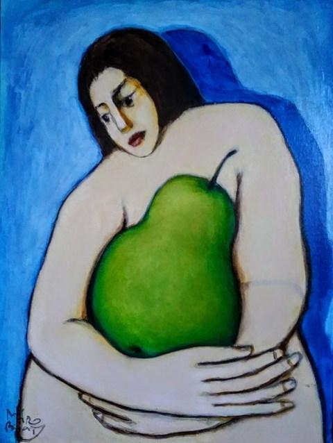 Obraz do salonu artysty Miro Biały pod tytułem Ni z gruchy ni z pietruchy