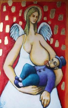 Metathrone, an Angel Breastfeeding a Child