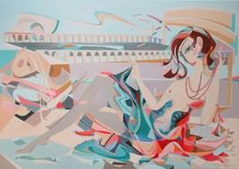 Obraz do salonu artysty Filip Gruszczyński pod tytułem Et Lauretta et ovum furem