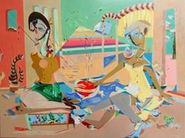 Living room painting by Filip Gruszczyński titled Epica