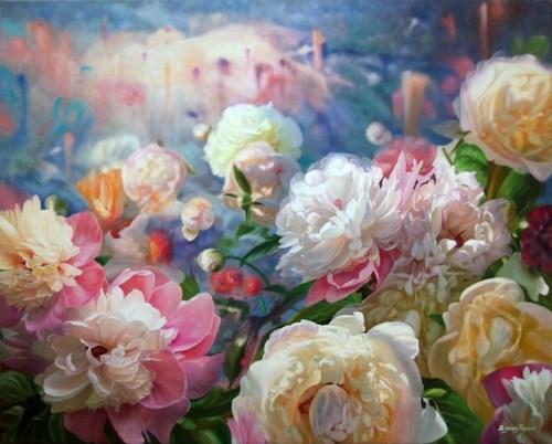 Obraz do salonu artysty Zbigniew Kopania pod tytułem Zaczarowany Ogród