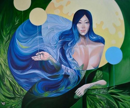 Obraz do salonu artysty Anita Zofia Siuda pod tytułem Kolekcjonerka