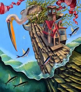 Obraz do salonu artysty Paweł Oleszkiewicz pod tytułem Pelikan
