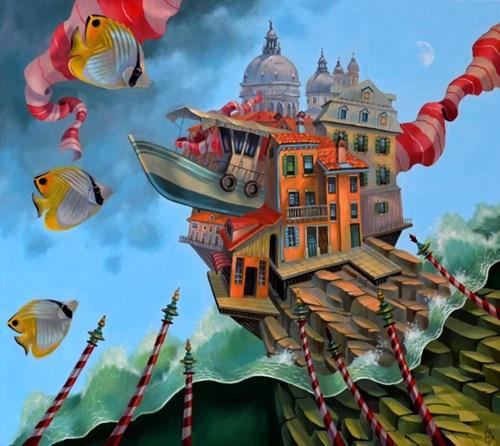 Obraz do salonu artysty Paweł Oleszkiewicz pod tytułem Kopuła