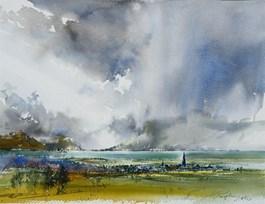 Obraz do salonu artysty Adam Papke pod tytułem Deszczowa dolina II
