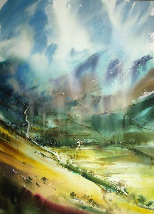 Obraz do salonu artysty Adam Papke pod tytułem Soczysta dolina