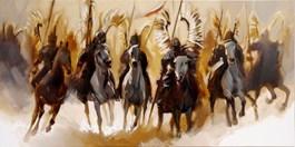 Living room painting by Beata Musiał-Tomaszewska titled Hussars