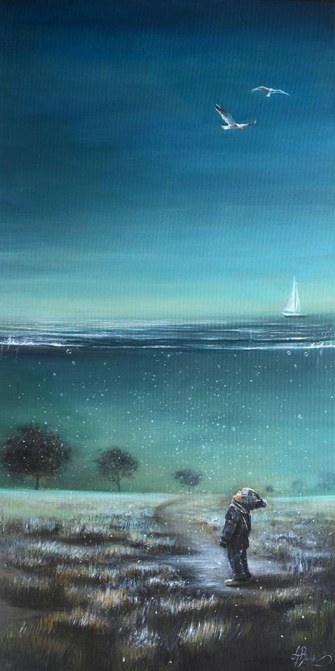 Obraz do salonu artysty Agata Buczek pod tytułem Iluzja - kontrast