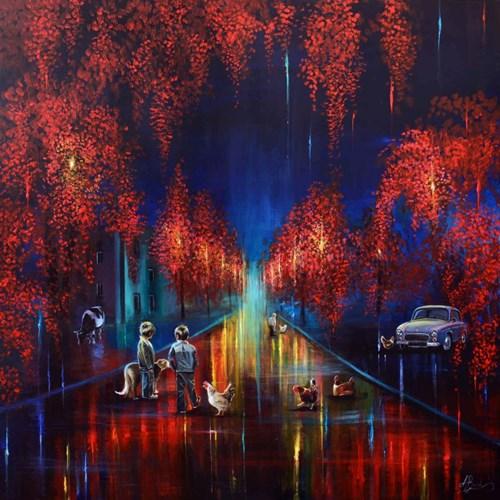 Obraz do salonu artysty Agata Buczek pod tytułem Po deszczu