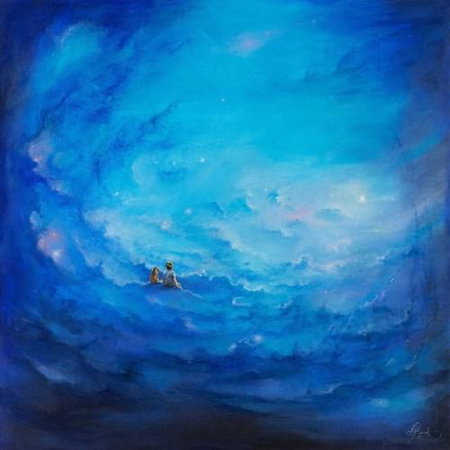 Obraz do salonu artysty Agata Buczek pod tytułem Słuchając ciszy
