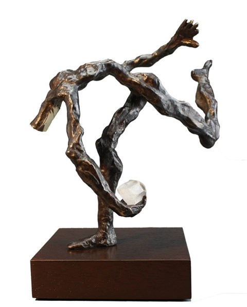 Rzeźba do salonu artysty Tomasz Koclęga pod tytułem Ucieczka