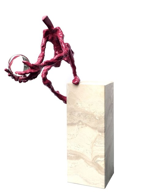 Rzeźba do salonu artysty Tomasz Koclęga pod tytułem Pila Motus Impulsores, 3/6