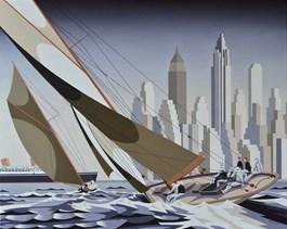 Obraz do salonu artysty Tomasz Kostecki pod tytułem Regaty II