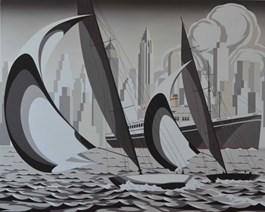 Obraz do salonu artysty Tomasz Kostecki pod tytułem Batory w Nowym Jorku
