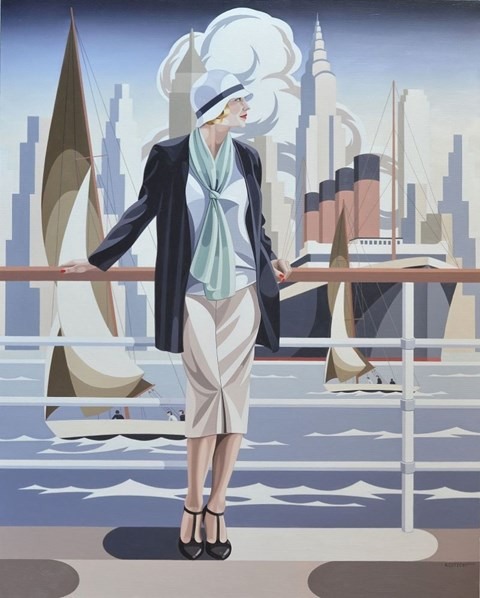Obraz do salonu artysty Tomasz Kostecki pod tytułem Pasażerka