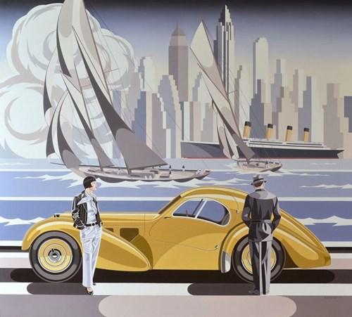 Obraz do salonu artysty Tomasz Kostecki pod tytułem Kobieta i Bugatti