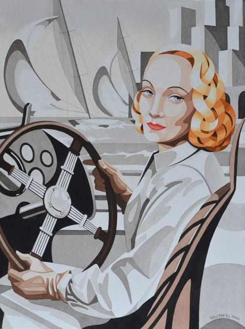 Obraz do salonu artysty Tomasz Kostecki pod tytułem Marlena w Monte Carlo