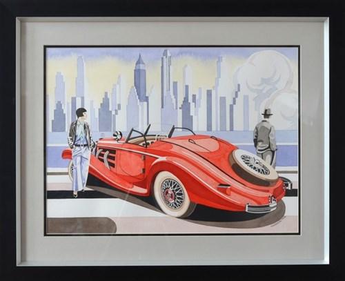 Obraz do salonu artysty Tomasz Kostecki pod tytułem Kobieta i Mercedes 2